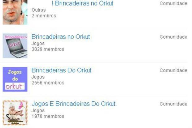 As brincadeiras mais populares (ou não) do Orkut  Reprodução/Orkut/