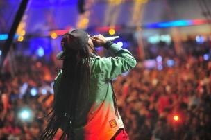 O Rappa no palco principal do Planeta