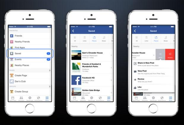Facebook lança ferramenta para salvar publicações Divulgação/Facebook