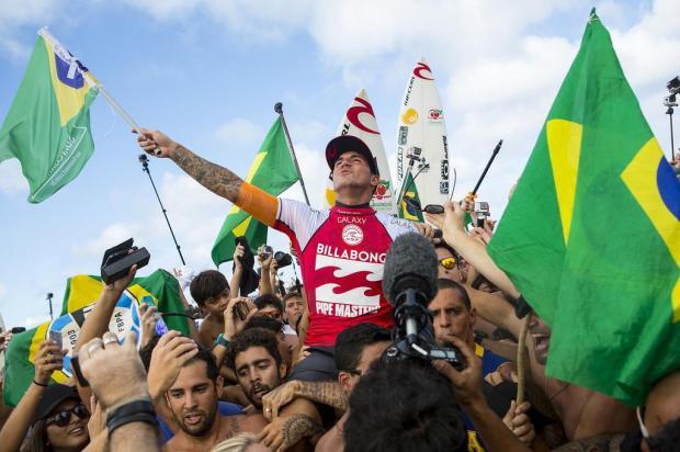 Gabriel Medina é campeão mundial de surfe Kirstin Scholtz/ASP,Divulgação