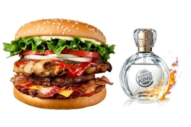 Rede de fast food lança perfume com cheiro de hambúrguer  Divulgação/